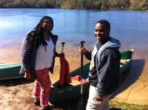 Janet Marcus canoe